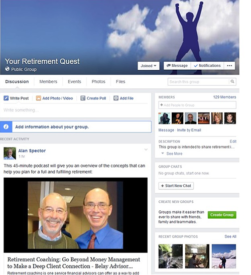 Your Retirement Quest Facebook Group